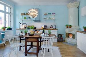 Яркий интерьер современной кухни