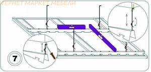 Регулировка высоты производится с помощью саморезов или регулировочных пружин.
