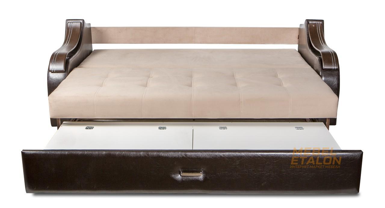 диван Волна 3 в разложенном виде