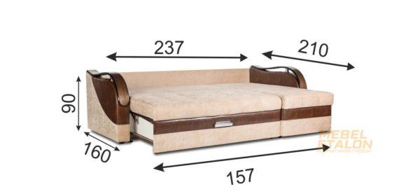 угловой диван Мечта 9 - габариты