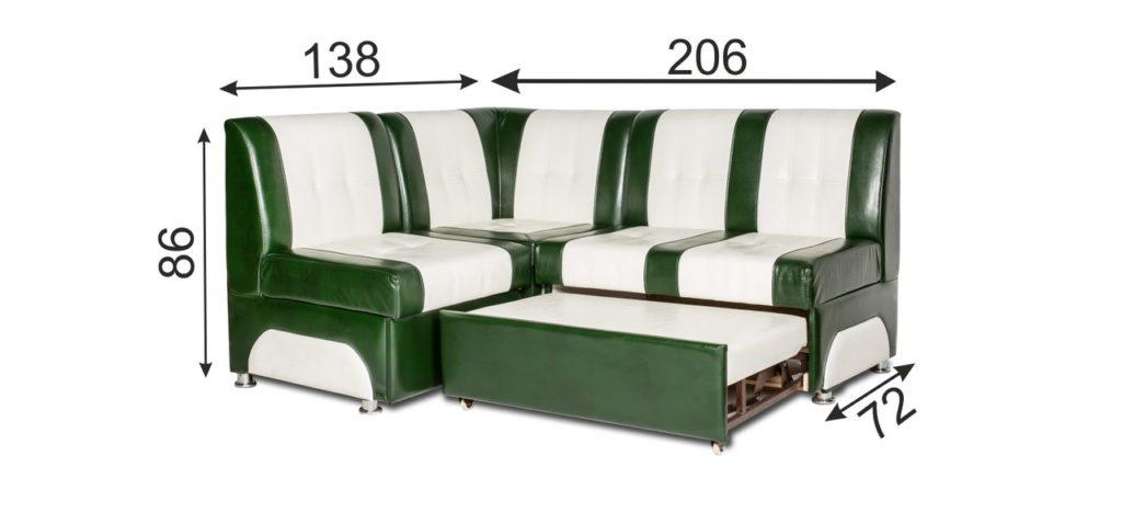 размеры дивана Тонсул