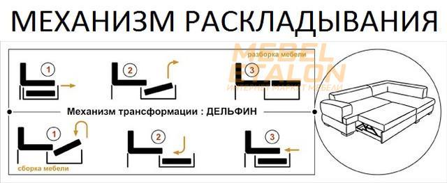 Механизм дельфин для мебели