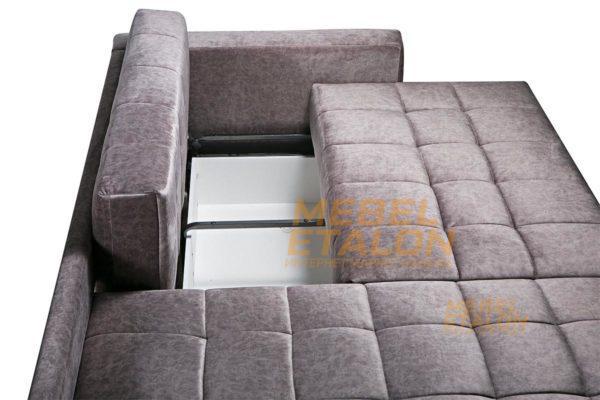 Угловой диван Раунд - вместительный бельевой ящик