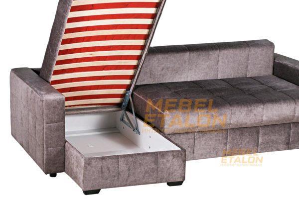 Угловой диван Раунд - поднятая часть дивана с ящиком