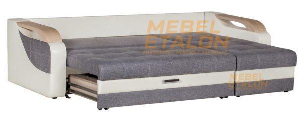 Угловой диван Алекс идеал - раздвинутый