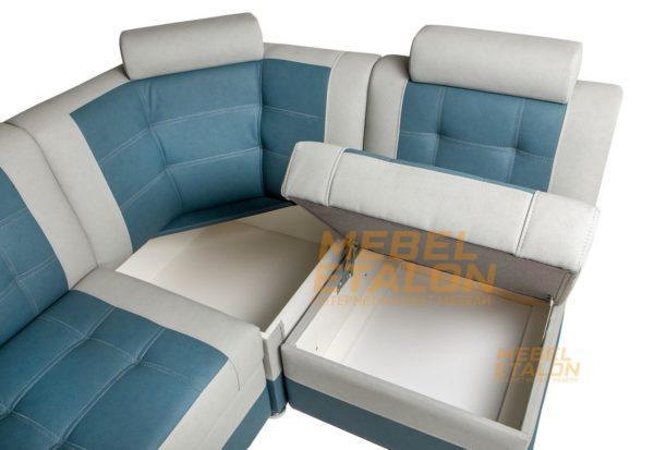 Кухонный диван Тонсул 2 угловой - открывающиеся ящики
