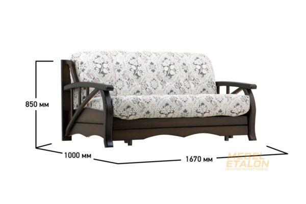 Прямой диван Белла, Ромашки