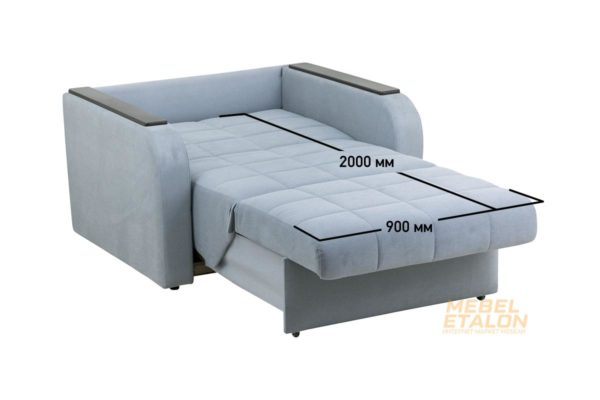 Диван Мега 02- 900, ткань El-6, декор