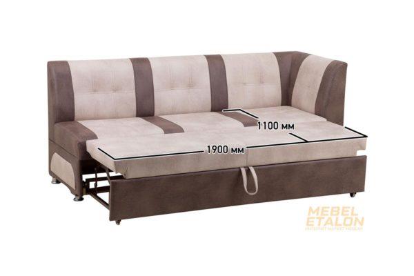 Кухонный диван ЭЛИТ прямой с угловой спинкой LIRA03 и LIRA08